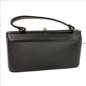 Vintage Mayer New York Purse Clutch Black Leather